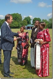 Rita, Aggrey and Christine meet Jesse Norman MP